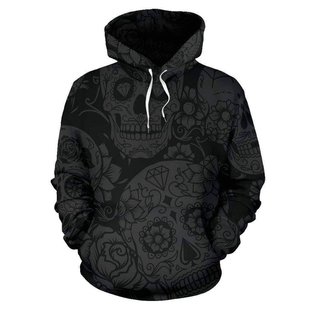 Dark Sugar Skull Hoodie - Addicted City