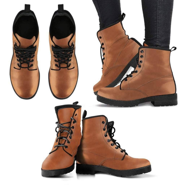 Fashion Women's Leather Boots Yellow Brown Color - Addicted City