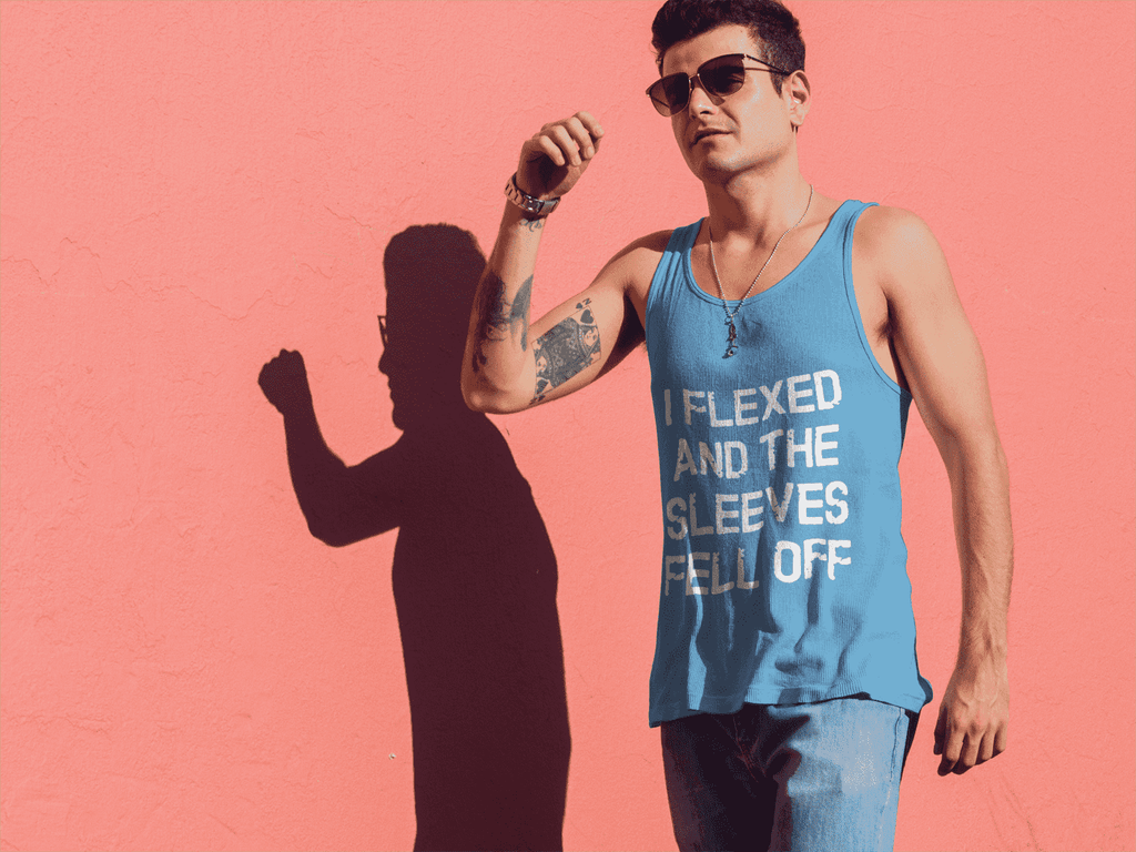 Flex The Sleeves Off Tank top - Addicted City