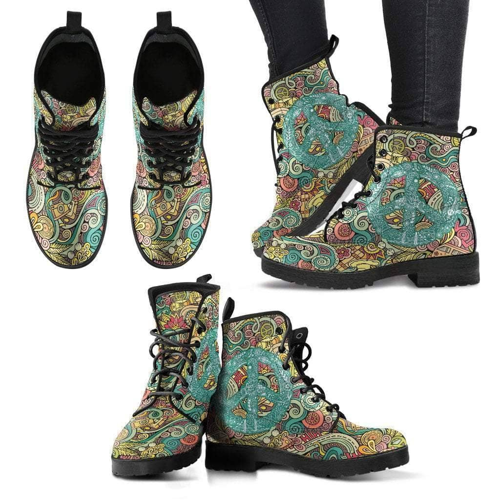 Hippie Peace Women's Leather Boots - Addicted City