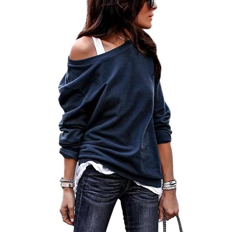 Inspire Long Sleeve Off The Shoulder Sweater - Addicted City