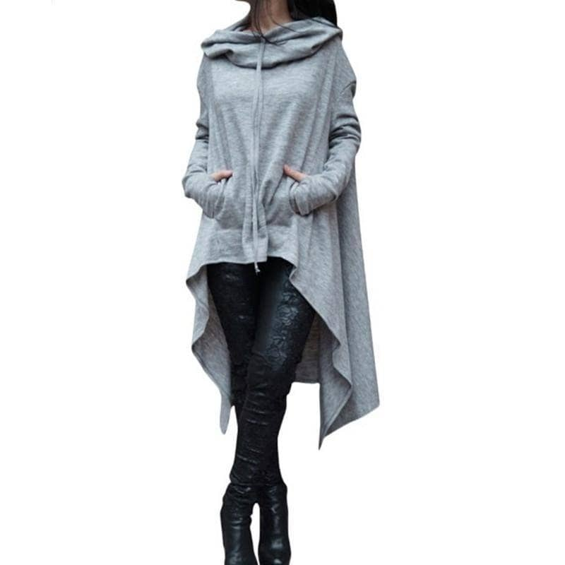 Kawaii Long Sleeve Hooded Sweatshirt (PLUS SIZE UP TO 5X) - Addicted City
