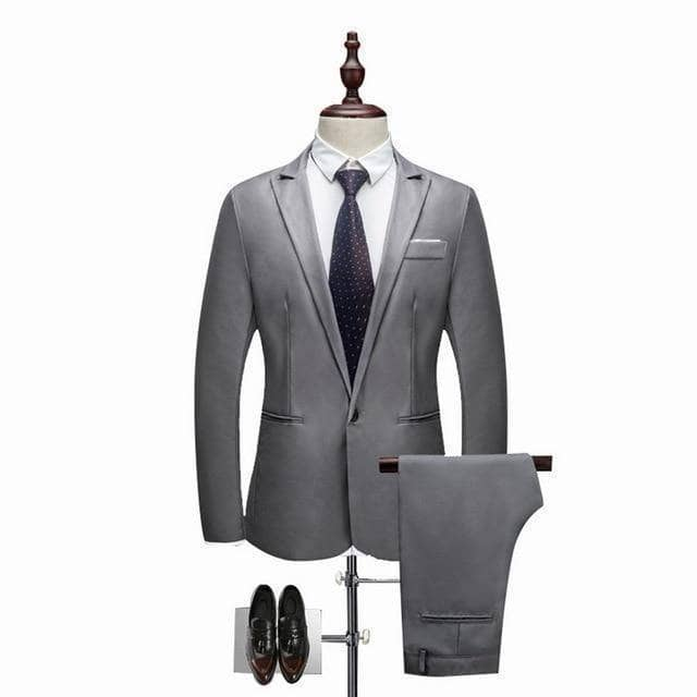 Luxury by Mariano Men's 2 Piece Suit (Jacket+Pants) - Addicted City