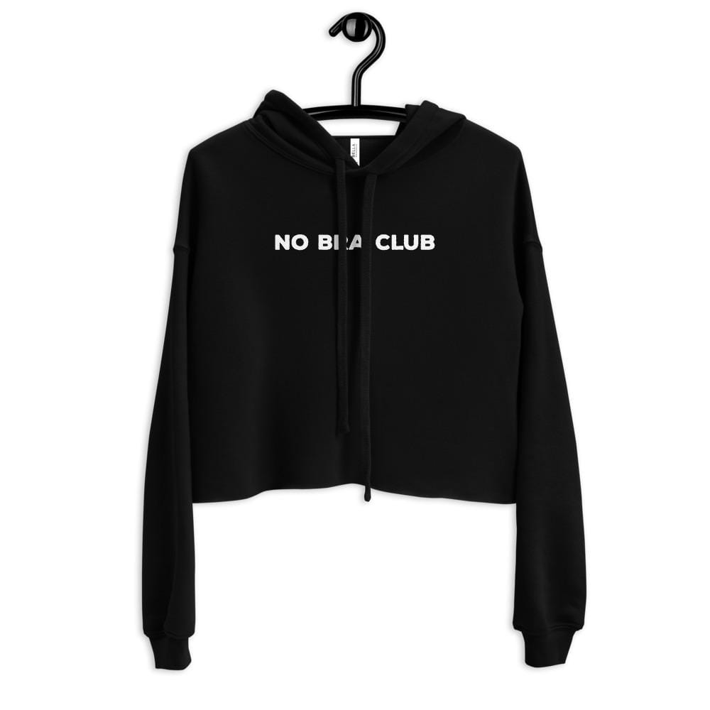 No Bra Club Crop Top Hoodie - Addicted City