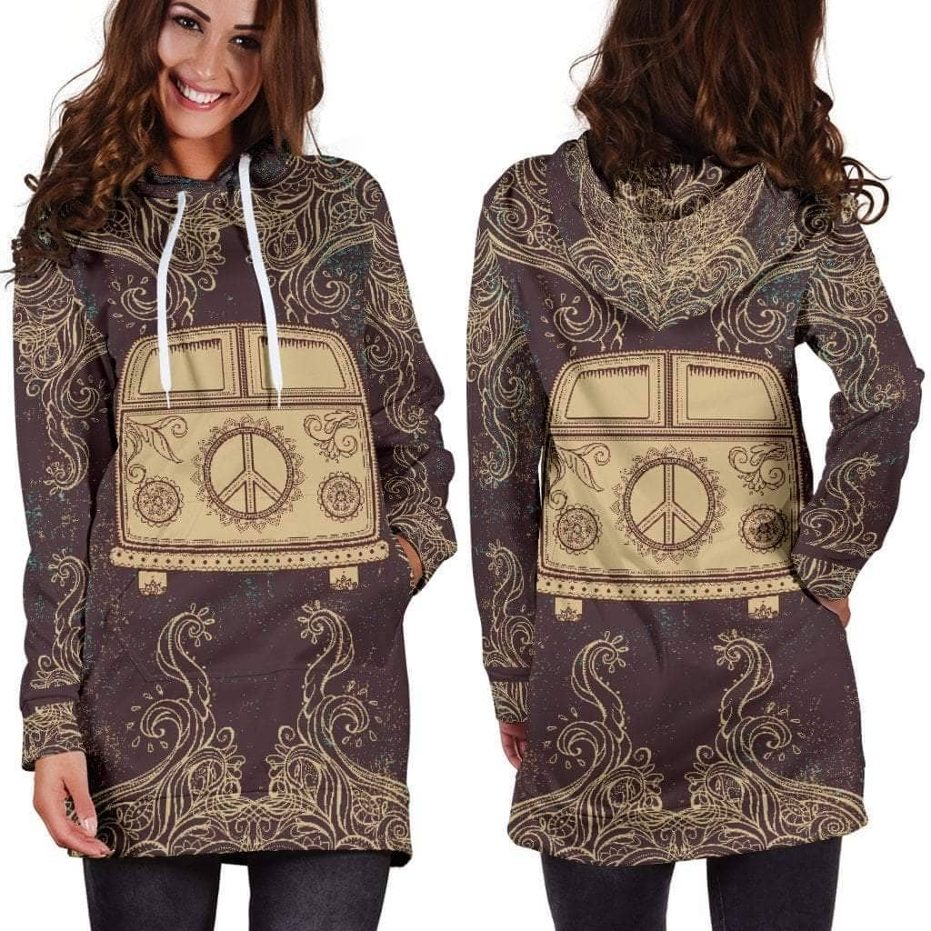Peace Bus Hoodie Dress - Addicted City