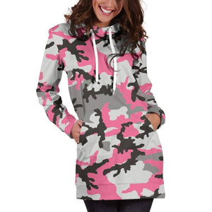 Pink Camo Hoodie Dress - Addicted City