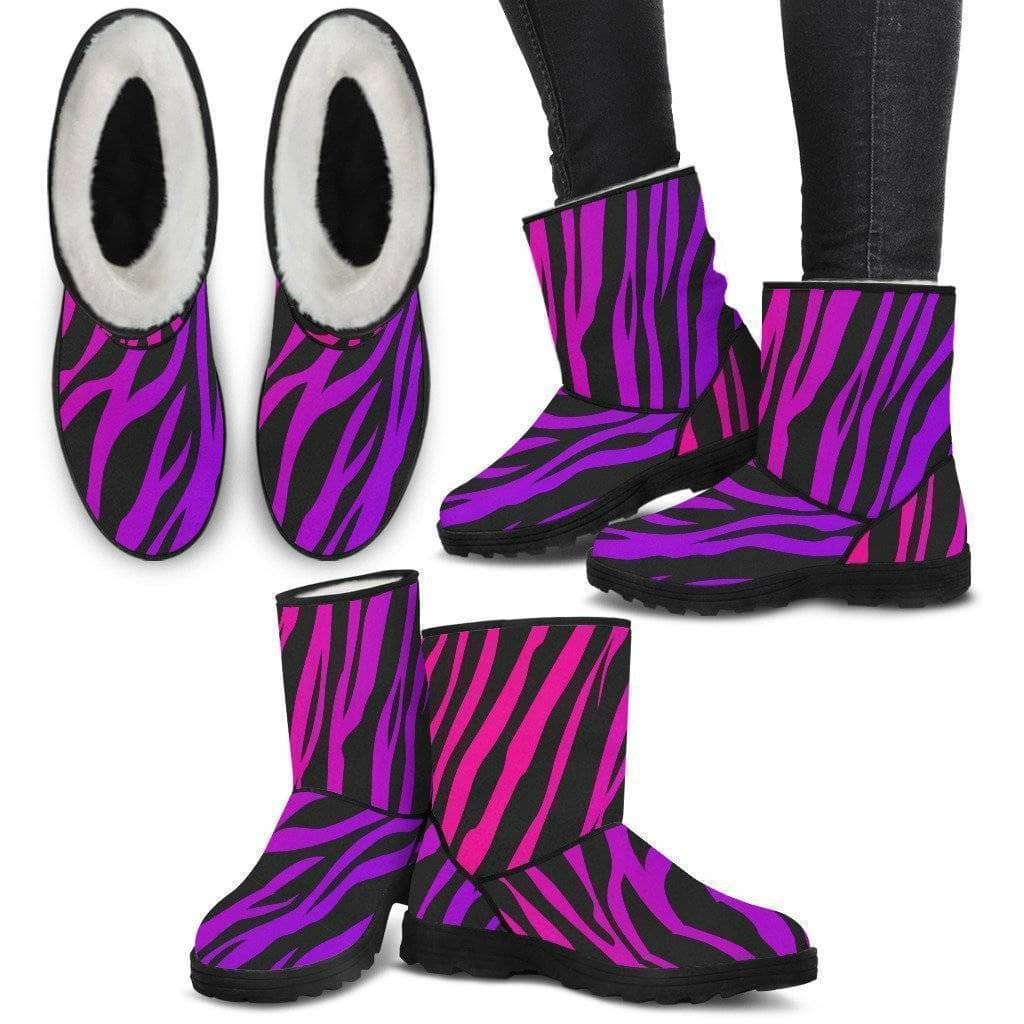 Pink n Purple Zebra Skin Designer Women - Addicted City
