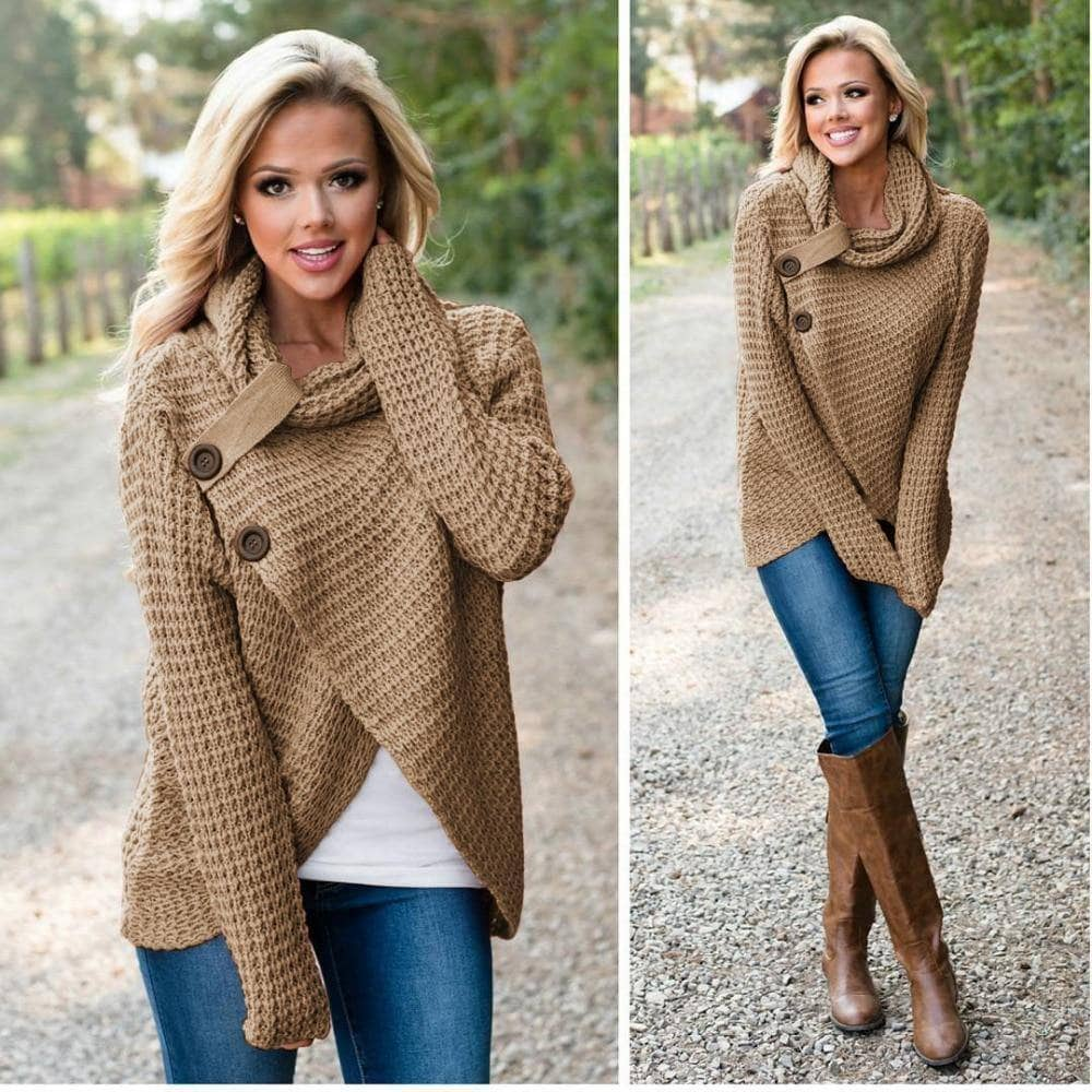 [SALE]  Women's Chunky Turtle Neck Wrap - Addicted City