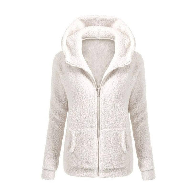 Snow White Fleece Down Jacket (PLUS SIZE UP TO 5X) - Addicted City