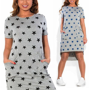 Star Print Dress (PLUS SIZES UP TO 6X) - Addicted City