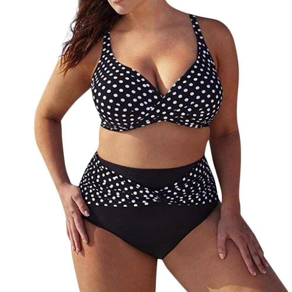SunCoast Club Brooke Madison  Women's Polka Dot Halter Top Bikini - Addicted City