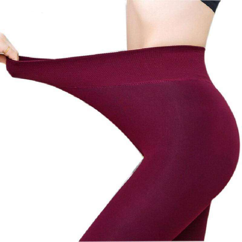 Super High Waist Velvet Winter Leggings - Addicted City
