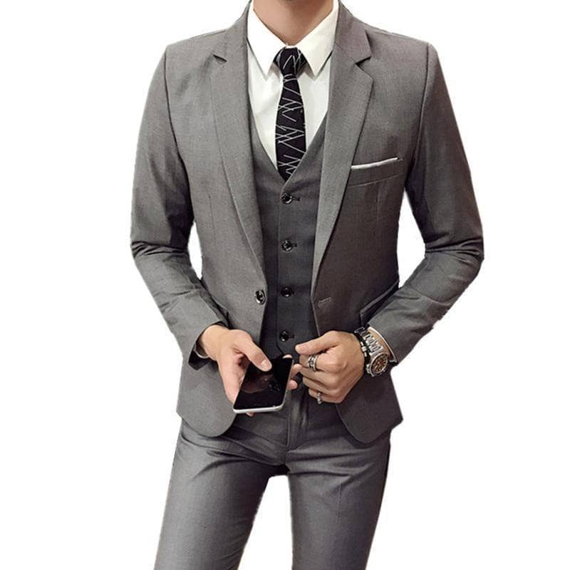 The Businessman by Valvano Men's 3 Piece Suit - Addicted City