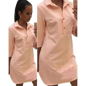 The Dress Shirt Dress by Button Down™ (PLUS SIZE UP TO XXXL) - Addicted City