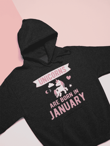 Unicorns Are Born In January Hoodie - Addicted City