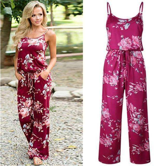 Women's Lace Up Floral Print Romper - Addicted City