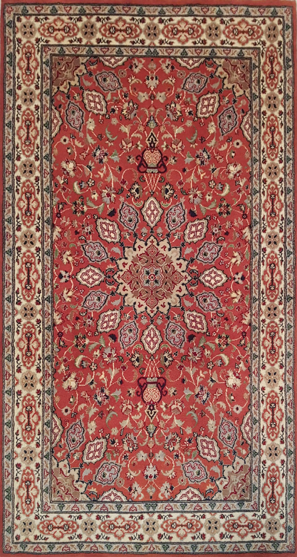 Rugs Online🥇 5.0 x 3.0 Orange Ardabil Authentic Persian Wool Handmade Rug