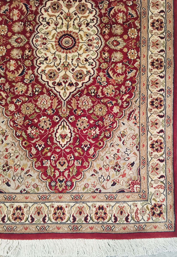 Rugs Online🥇 5.0 x 3.0 Red Apple Kashan Handmade Rug