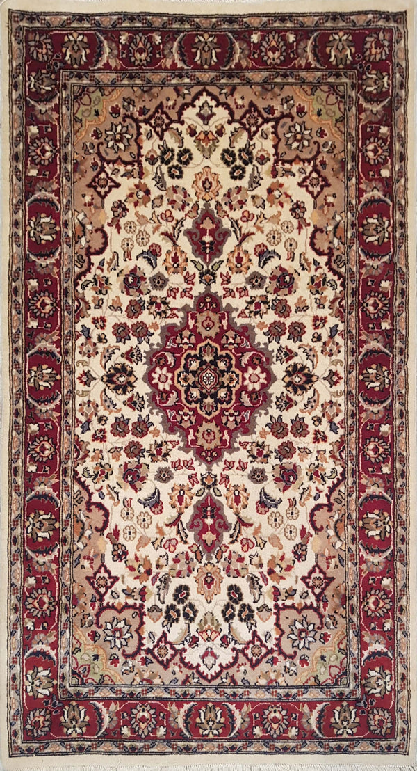 Rugs Online🥇 5.0 x 3.0 Red Kashan Authentic Persian Wool Handmade Rug