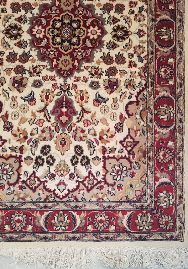 Rugs Online🥇 5.0 x 3.0 Royal Red Kashan Authentic Persian Wool Handmade Rug