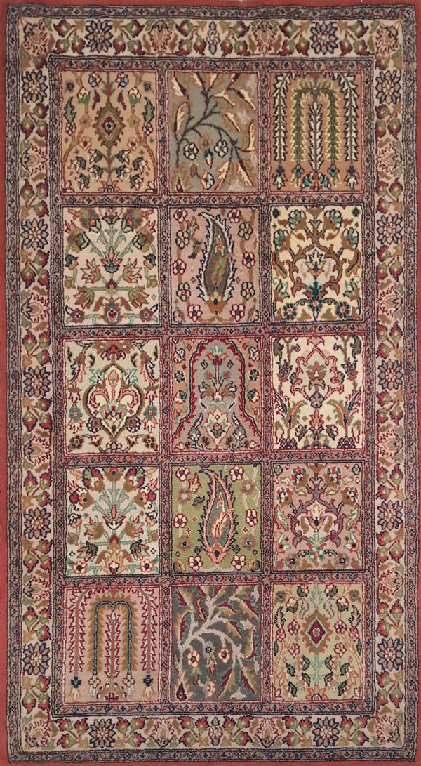 Rugs Online🥇 5.0 x 3.0 Traditional Compartment Authentic Persian Wool Handmade Rug