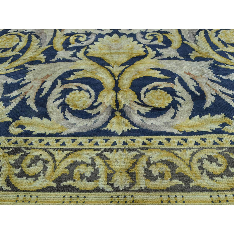 "Shrugs Antique 10'10""x13'8"" Old Spanish Savonnerie Exc Cond Hand-Knotted Oversize Rug"