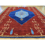 "Shrugs Fine Oriental 10'3""x14' Open Field Antiqued Bijar Natural Dyes Hand Knotted Rug"