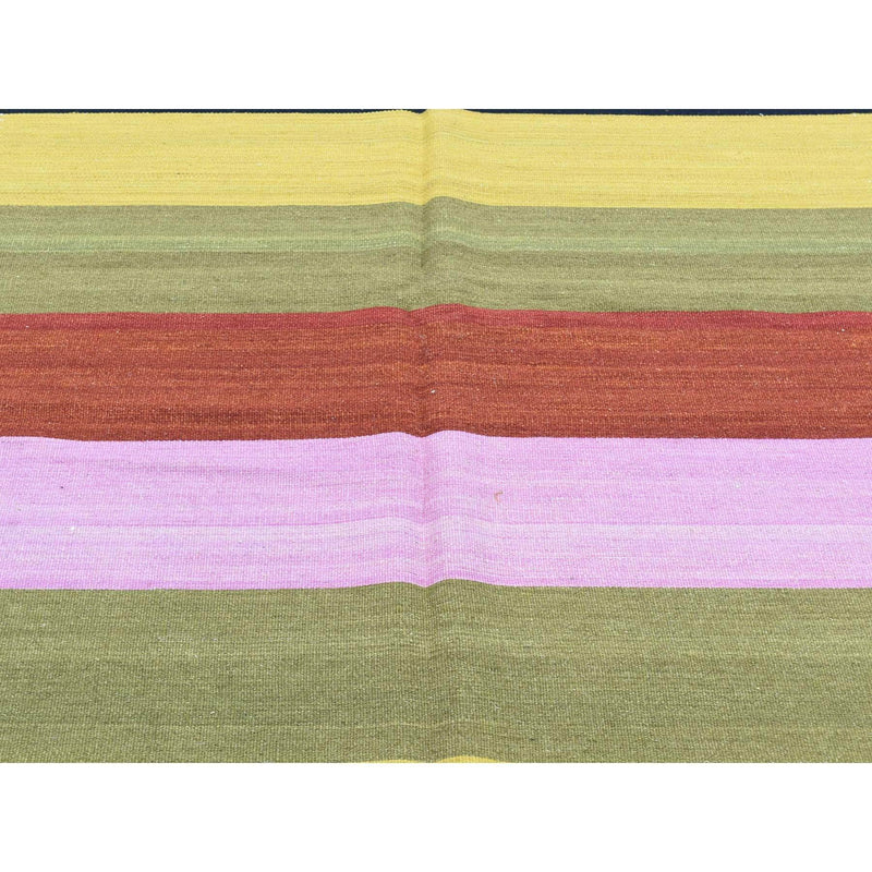 "Shrugs Flat Weave 10'x14'6"" Hand-Woven Flat Weave Multicolored Durie Kilim Oriental Rug"