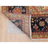 "Shrugs Heriz 11'9""x15'1"" Oversized Antiqued Heriz Re-creation Pure Wool Hand Knotted Oriental Rug"