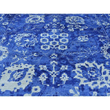 "Shrugs Transitional 12'3""x18'4"" Oversize Hand-Knotted Wool And Silk Tone on Tone Tabriz Rug"