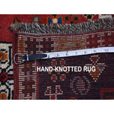 "Shrugs Persian 2'4""x3'3"" Red New Persian Shiraz With Figurines Nomad Vivid Hand Knotted Pure Wool Small Rug"