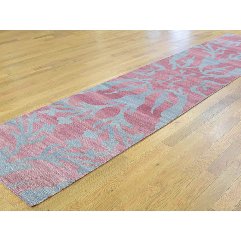 "Shrugs Flat Weave 2'6""x8' Hand-Woven Flat Weave Durie Kilim Reversible Oriental Runner Rug"