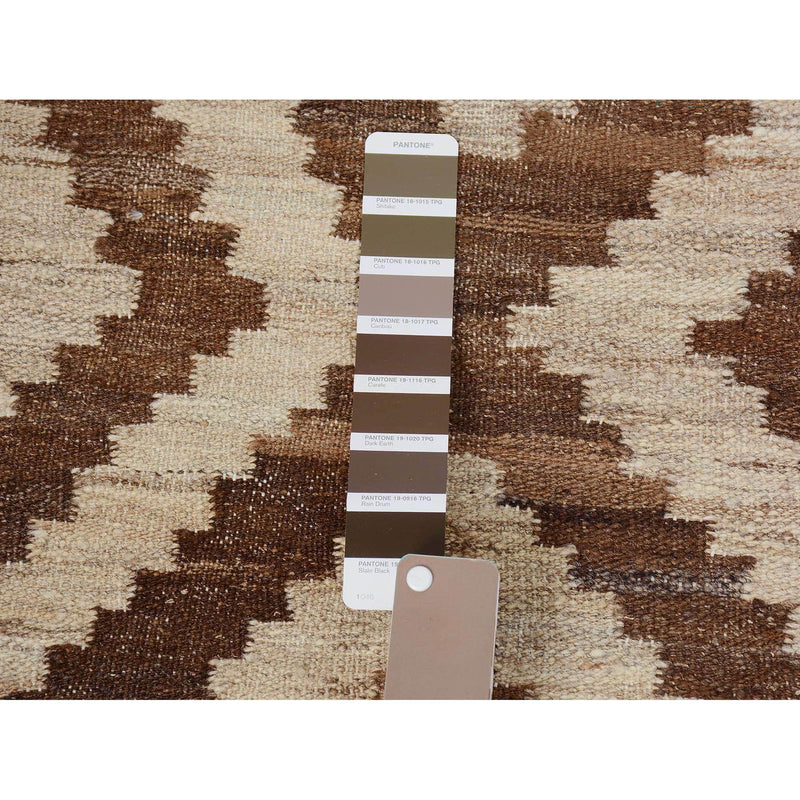 "Shrugs Flat Weave 2'7""x9'7"" Reversible Afghan Kilim Natural Dyes Pure Wool Runner Hand Woven Oriental Rug"