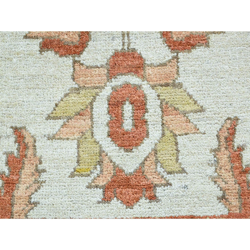 "Shrugs Oushak And Peshawar 2'x2'10"" Hand Knotted Peshawar Pure Wool Oriental Rug"