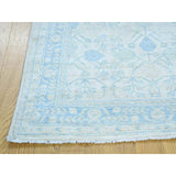 "Shrugs Khotan and Samarkand 3'2""x5' On Clearance Hand-Knotted White Wash Khotan And Samarkand Pure Wool Rug"