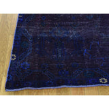 "Shrugs Overdyed & Vintage 5'x6'10"" On Clearance Overdyed Persian Hamadan Hand-Knotted Pure Wool Worn Rug"