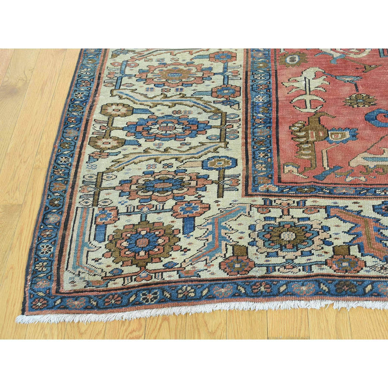 "Shrugs Antique 8'4""x14' Original Antique Persian Bakshaish Good Cond Gallery Size Rug"
