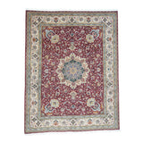 "Shrugs Persian 9'9""x12'8"" Persian Tabriz 400 Kpsi Wool and Silk Handmade Oriental Rug"