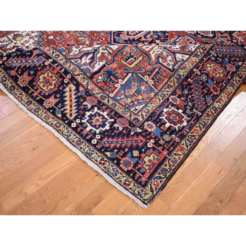"Shrugs Antique 9'x12'2"" Red Antique Persian Heriz Full Pile Exc Cond, Clean Hand knotted Oriental Rug"