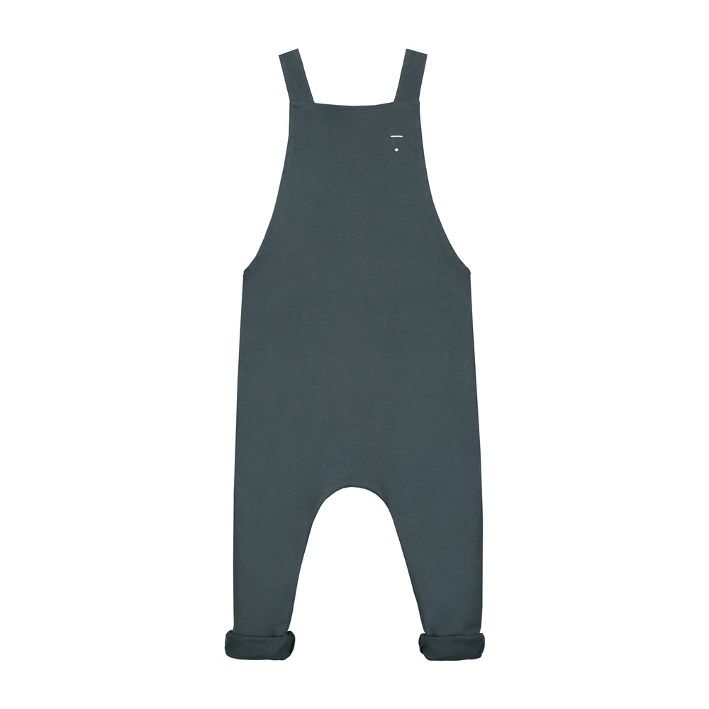 Brushed Winter Salopette Dungarees - Grey Marl