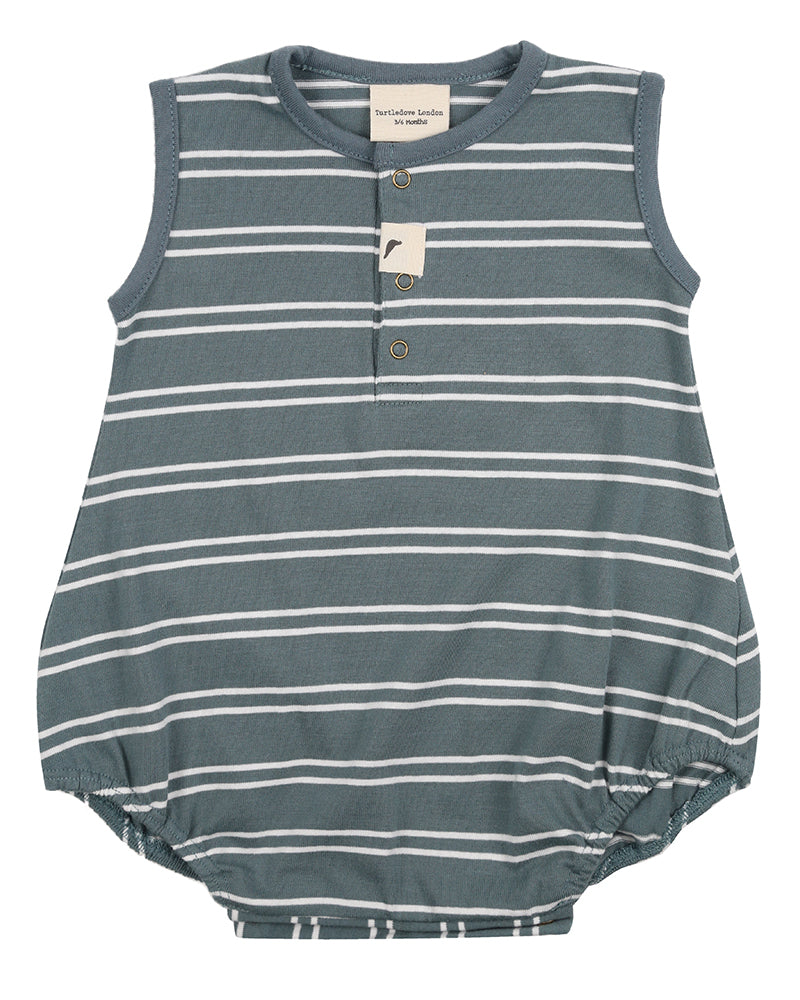 Steel Stripe Bubble Romper