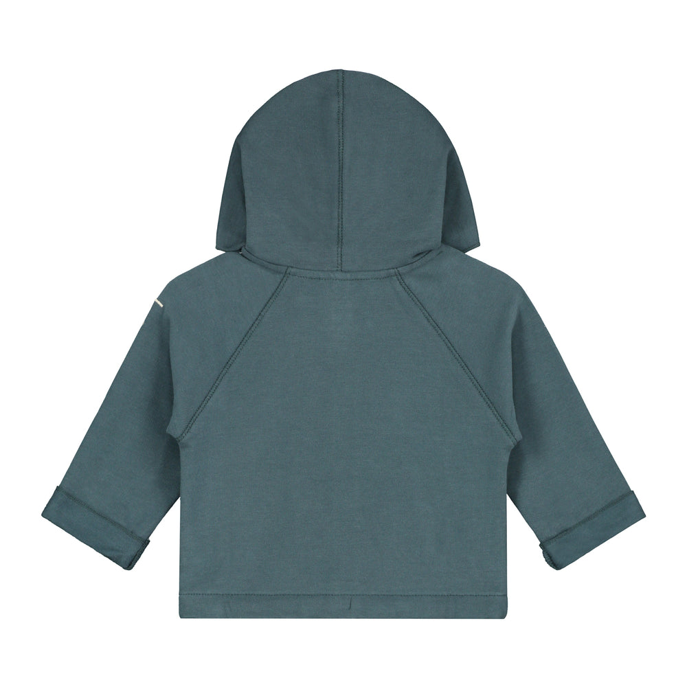 Load image into Gallery viewer, Baby Hooded Cardigan Blue Grey