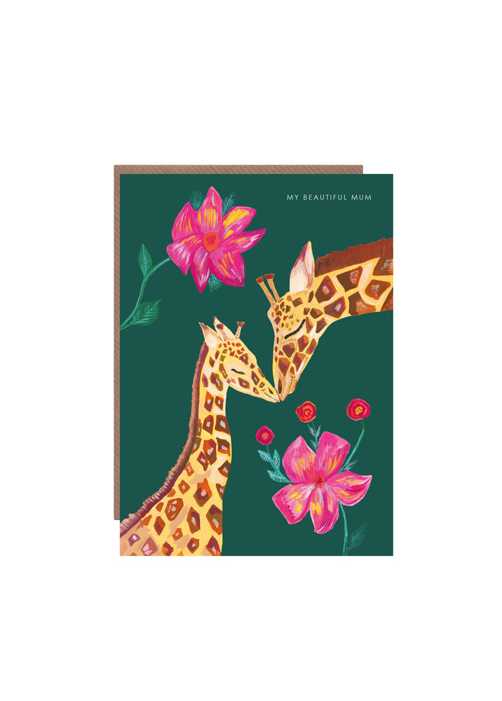 Giraffe Beautiful Mum Greetings Card