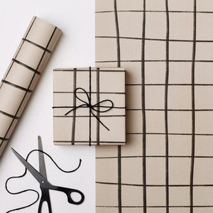 Load image into Gallery viewer, Mono Grid Gift Wrap