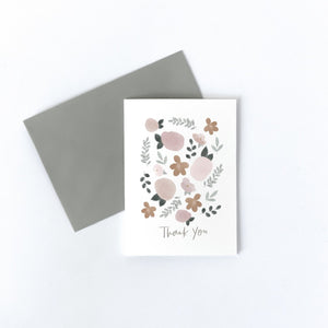 Load image into Gallery viewer, Floral Thankyou Card