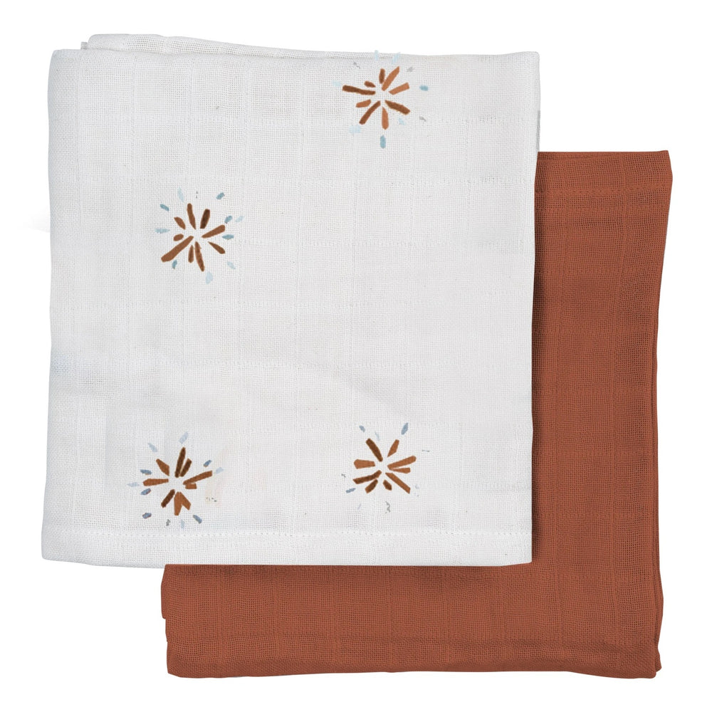 Organic Large Muslin Cloth-Dandelions