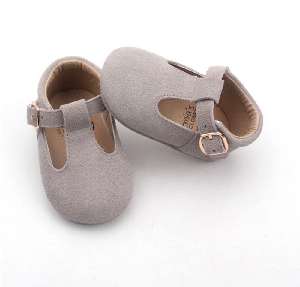 Bunny Suede Traditional T-Bar Shoes