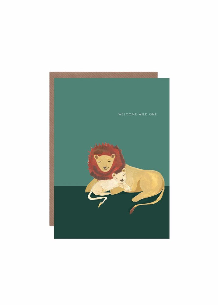 Lion and Cub New Baby Card