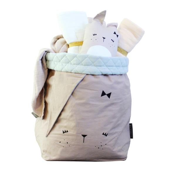 Large Storage Bag - Mauve Bunny