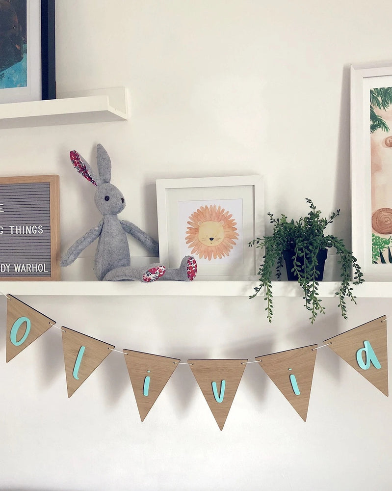 Personalised Wooden Letter Bunting